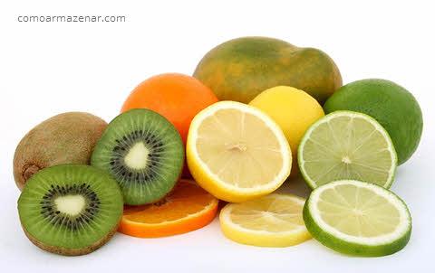 Como armazenar kiwi, limão, lima