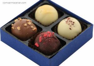 Como armazenar trufas de chocolate