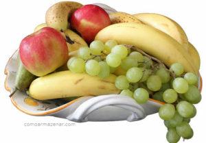 Como armazenar banana, maçã, uva