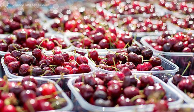 Como armazenar cerejas frescas e secas