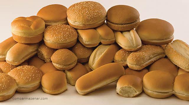 Como armazenar pão de hambúrguer, de cachorro-quente