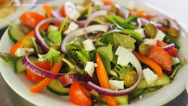 Como armazenar salada