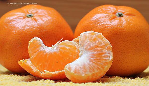 Como armazenar tangerina