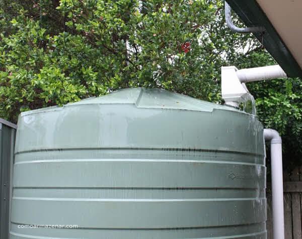 Como armazenar água da chuva, captação de água