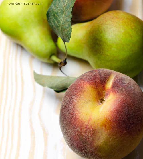 Como armazenar peras frescas
