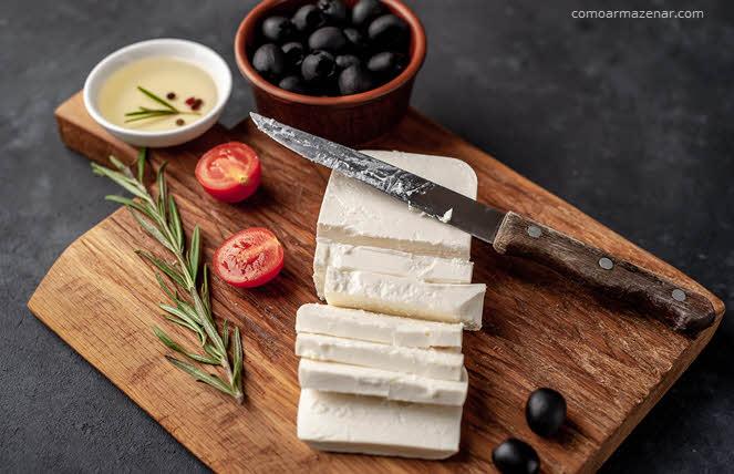 Como armazenar queijo feta
