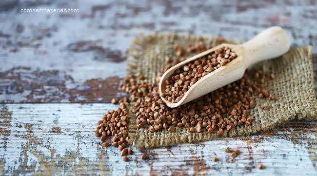 Como armazenar trigo sarraceno