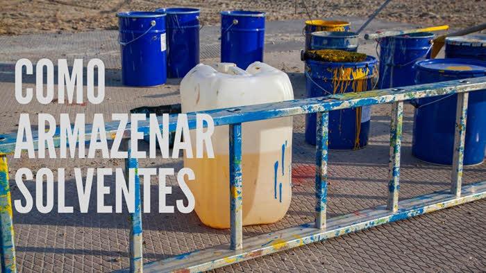 Como armazenar solventes