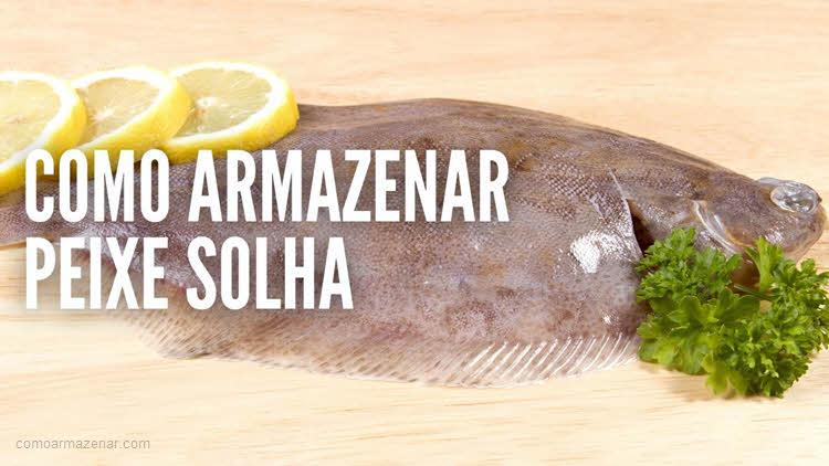 Como armazenar o peixe solha